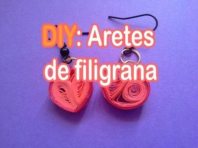 DIY: Aretes de filigrana