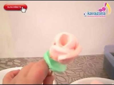 DIY Cómo hacer una rosa de  bombones.malvaviscos