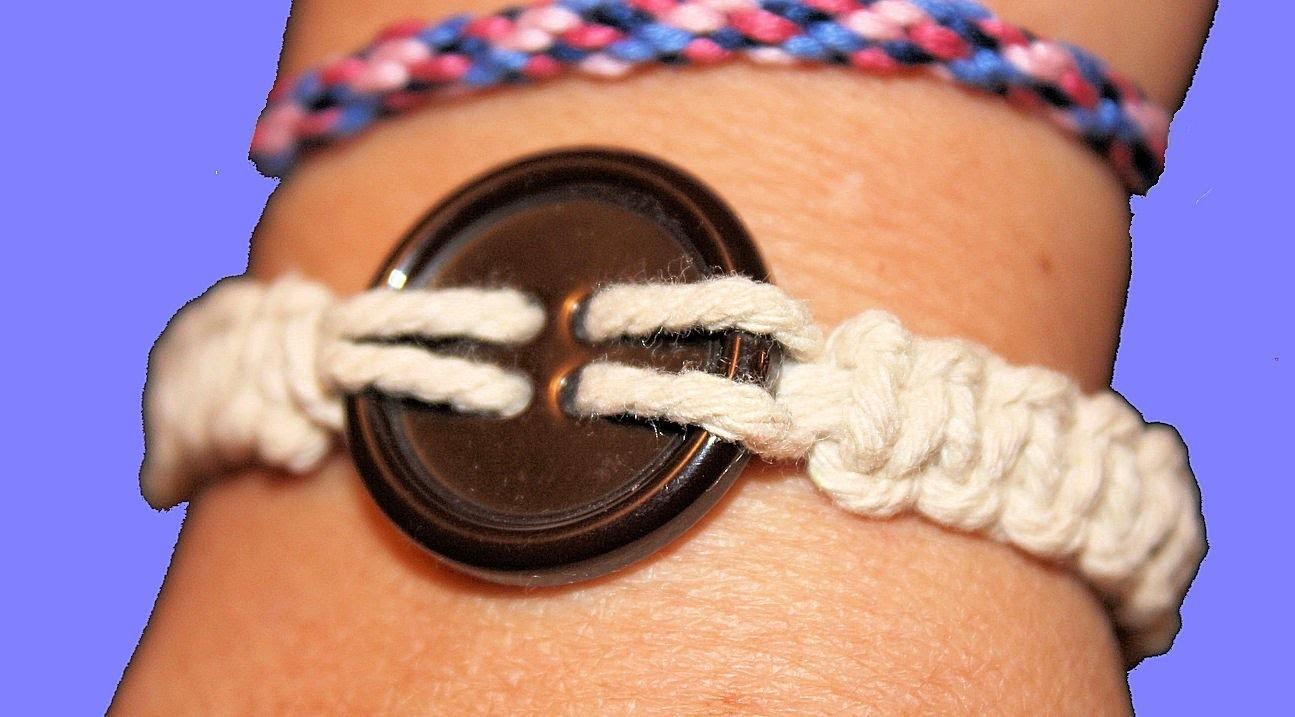 DIY: Pulsera de nudos macramé. Knot bracelet