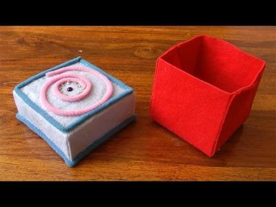Manualidades: Cajita de Paño - Manualidades para todos