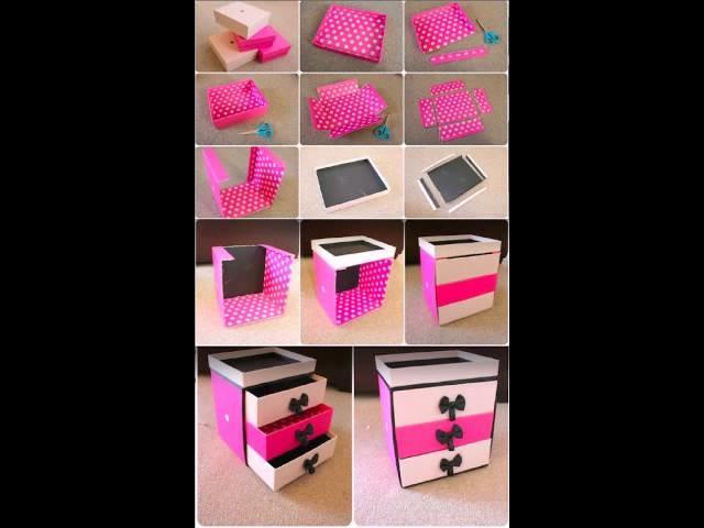 Manualidades con cajas de zapatos shoe box crafts