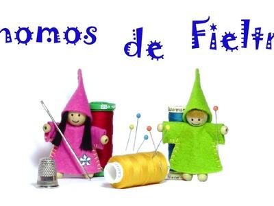 Manualidades gnomos de fieltro. gnomes Crafts