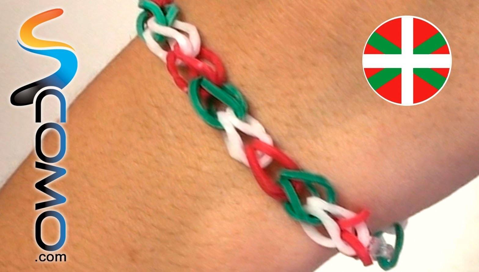 Pulsera de gomitas con bandera del País Vasco