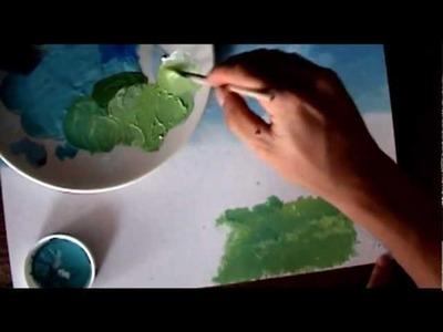 Dibujo tradicional  El viaje de chihiro Background  Acrílico  y SAI