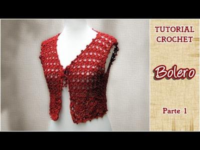 DIY Como tejer un Bolero a CROCHET, PASO A PASO (1 de 3)