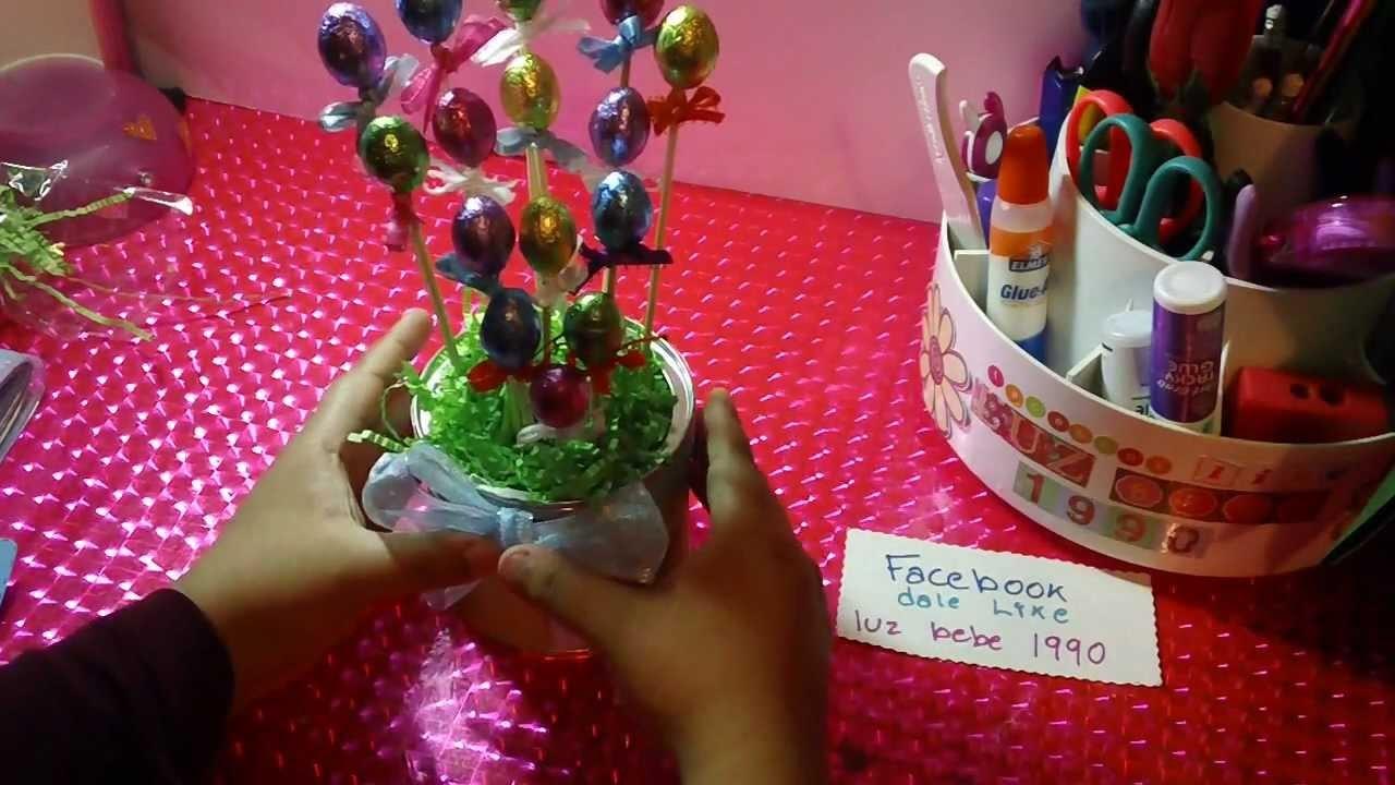 PASCUA:centro de mesa con chocolate