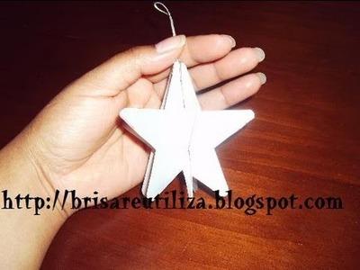 34. DIY 3D STAR (ESTRELLA 3D) RECICLAJE DE TETRABRICK