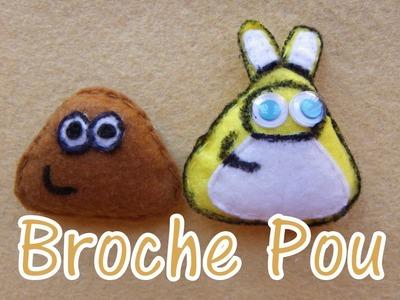 Broche de fieltro Pou - felt brooch Pou