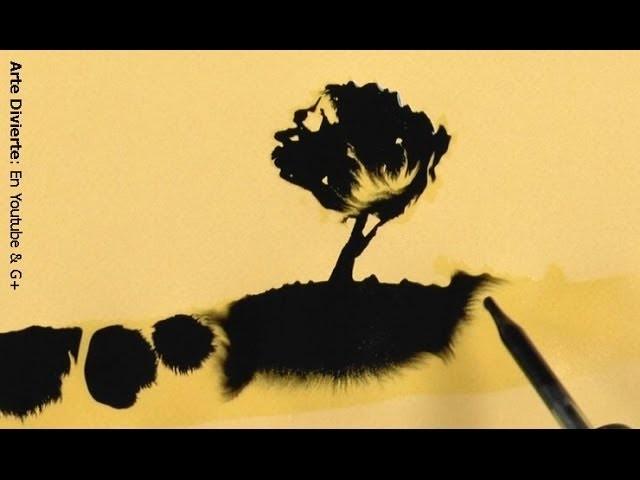 ¡Mágicamente aparecen las pinturas! Cómo pintar con tinta  - Arte Divierte