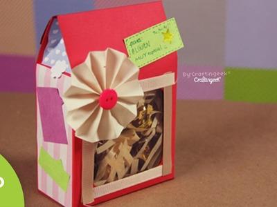 Cajita sorpresa: dulces y regalo - 14 de febrero. Gift Box DIY