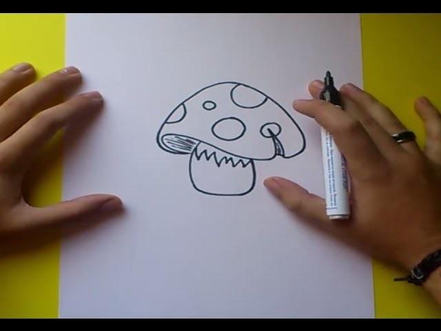 Como dibujar una seta paso a paso 2 | How to draw a mushroom 2
