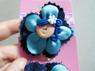 Como elaborar accesorios pequeños  para decorar moñas elasticas para el cabello