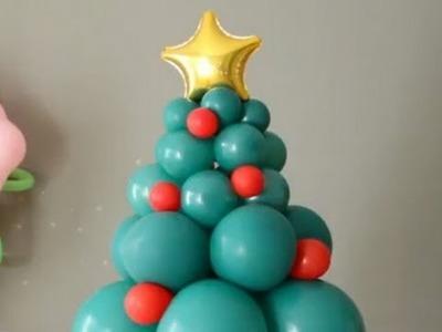 Cómo hacer un árbol de Navidad con globos