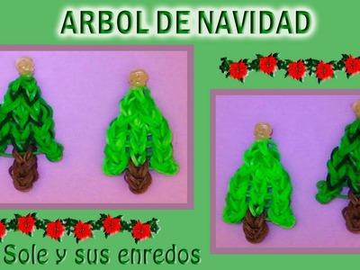 Cómo hacer un Arbol (decoración Navidad) con gomitas elásticas