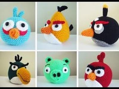 Como Tejer Angry Birds, manualidades de como hacer Angry Birds