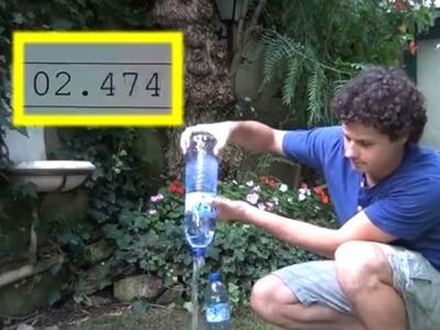 Cómo vaciar una botella de 1,5 l en menos de 2 segundos