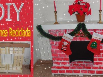 Crea tu Chimenea Reciclada + Decoracion de Navidad D.I.Y. Manualidad Navidad