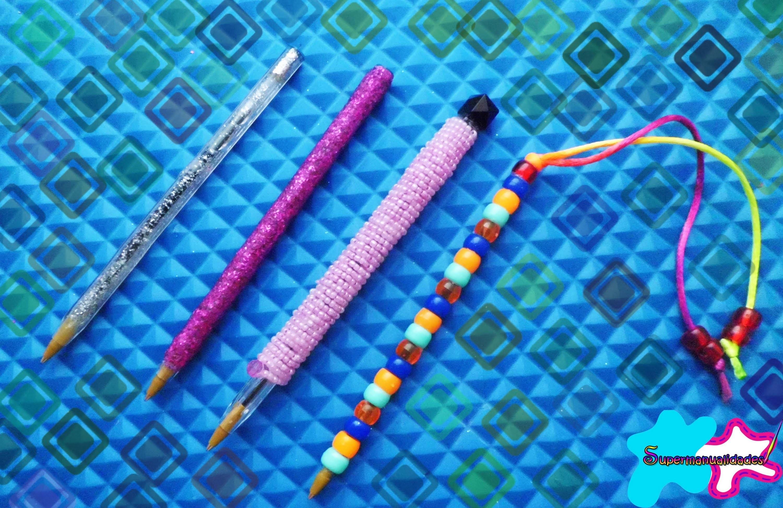 Decora y personaliza tus bolígrafos para este regreso a clases ✍SUPERMANUALIDADES✍