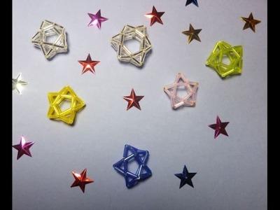DIY Estrellas para adornar pequeños arboles de Navidad, dijes o para pendientes.