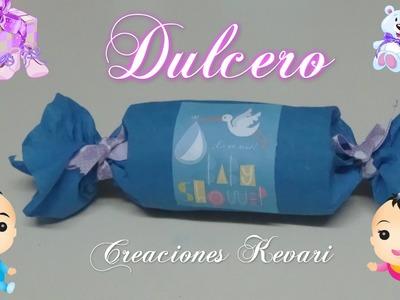 Dulcero para Baby Shower Material reciclado.Candy Bag