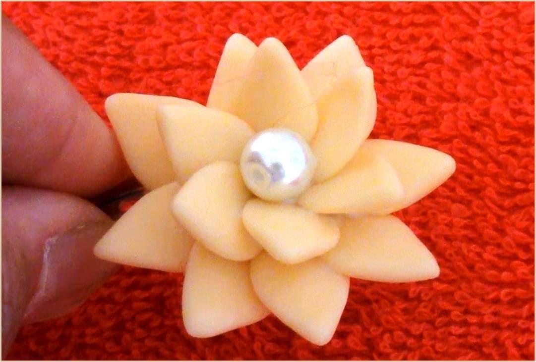 Flores para el cabello en porcelana fría - hair flowers