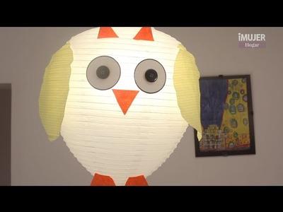 Haz un búho con una lámpara de papel | DECORACIÓN | @iMujerHogar