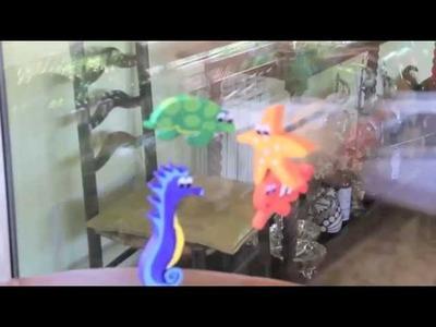 Móvil de peces colgantes para bebes DIY