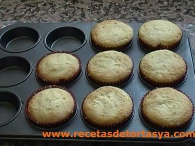 Muffins de vainillas - Magdalenas de vainilla y dulce de leche - Recetas de Tortas YA!