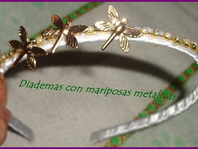 Paso a paso pra hacer una diadema con mariposas en cobre,step by step to make a headband with butter
