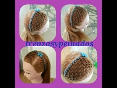 Peinados para niñas. Curso #13 (Tejido la maya o panal de abejas)