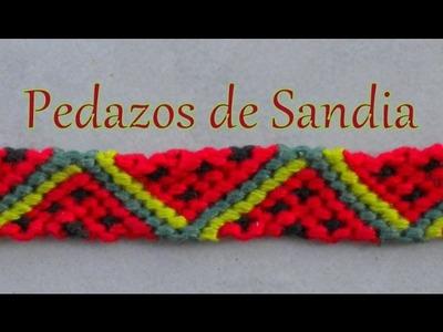 Pulsera de Hilo: Pedazos de Sandia