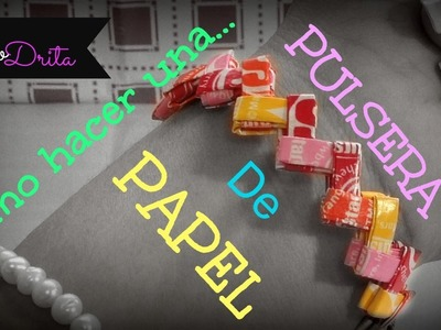 PULSERA DE PAPEL. STARBURST WRAPPER BRACELET