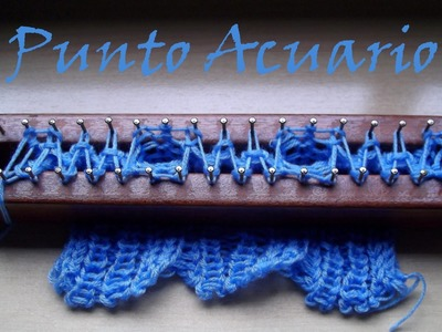 Punto Acuario en Telar Maya. Aquarius stitch on loom