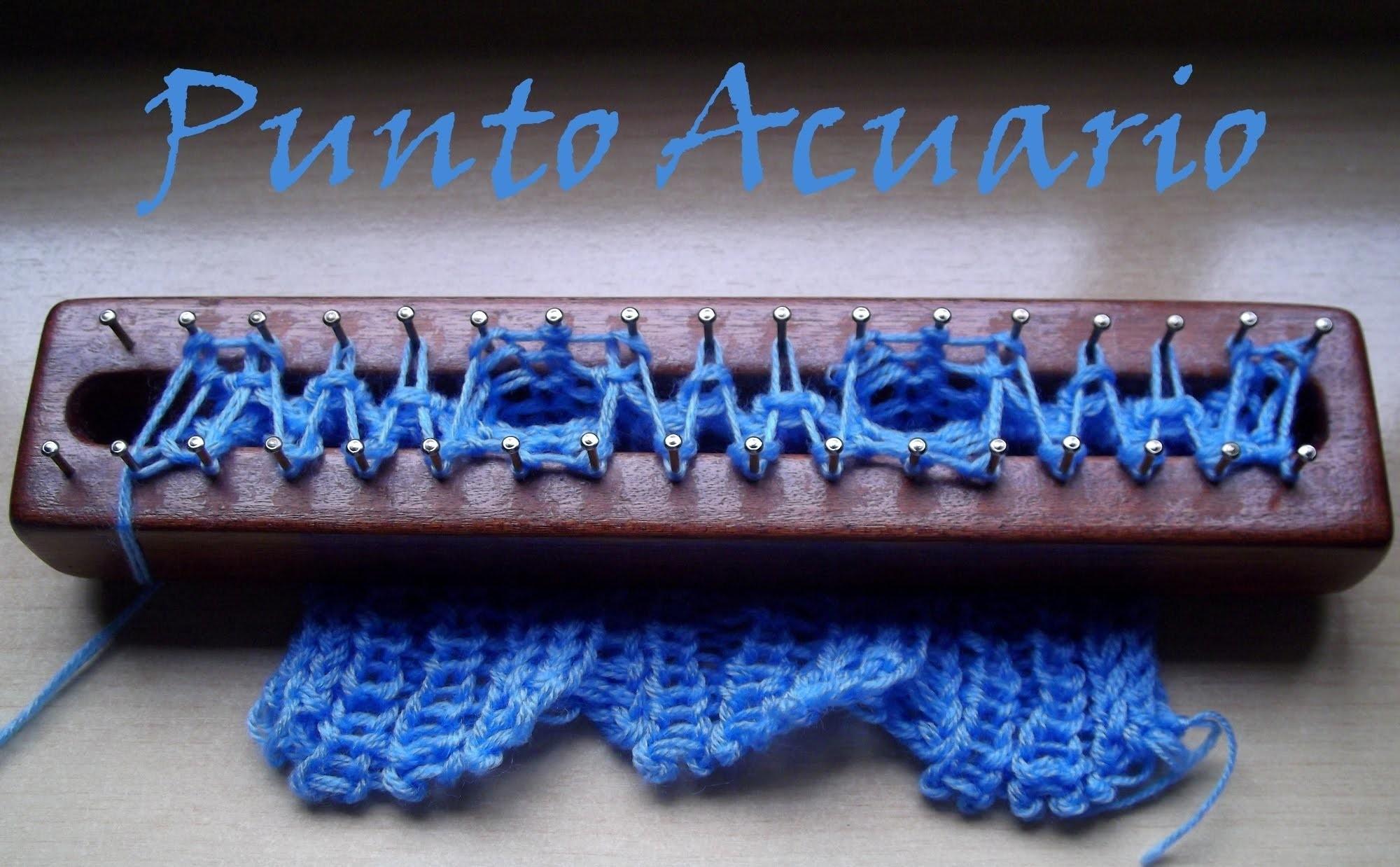 Punto Acuario en Telar Maya. Aquarius stitch on loom
