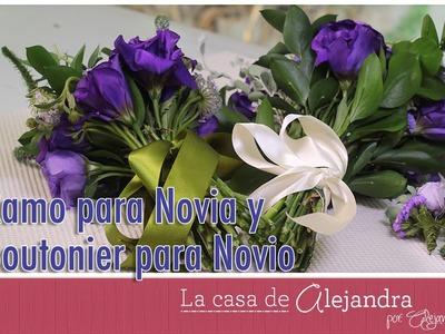 Ramo para Novia y Boutonier para Novio DIY Alejandra Coghlan