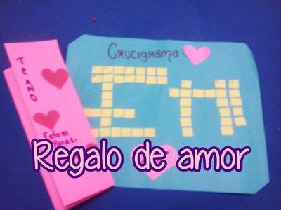 Regalo San Valentin: Crucigrama de amor :)