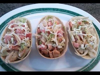 Tacos en barquitas receta de cocina facil mexicana