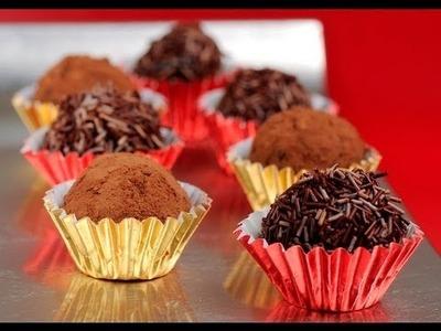 Trufas de chocolate - Chocolate Truffles