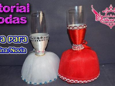 ♥ Tutorial: Copa de Boda para Novia.Madrina ♥