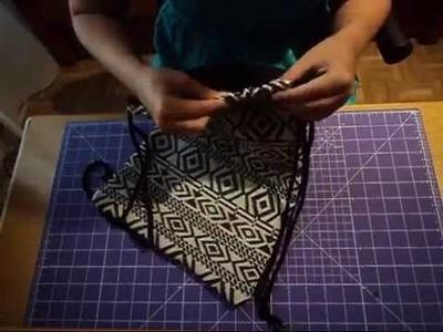 Tutorial sencillo de mochila de cuerdas con costura francesa
