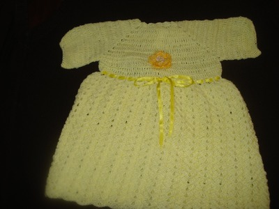 Vestido Tejido en Gancho Para Bebe Parte 1 de 2