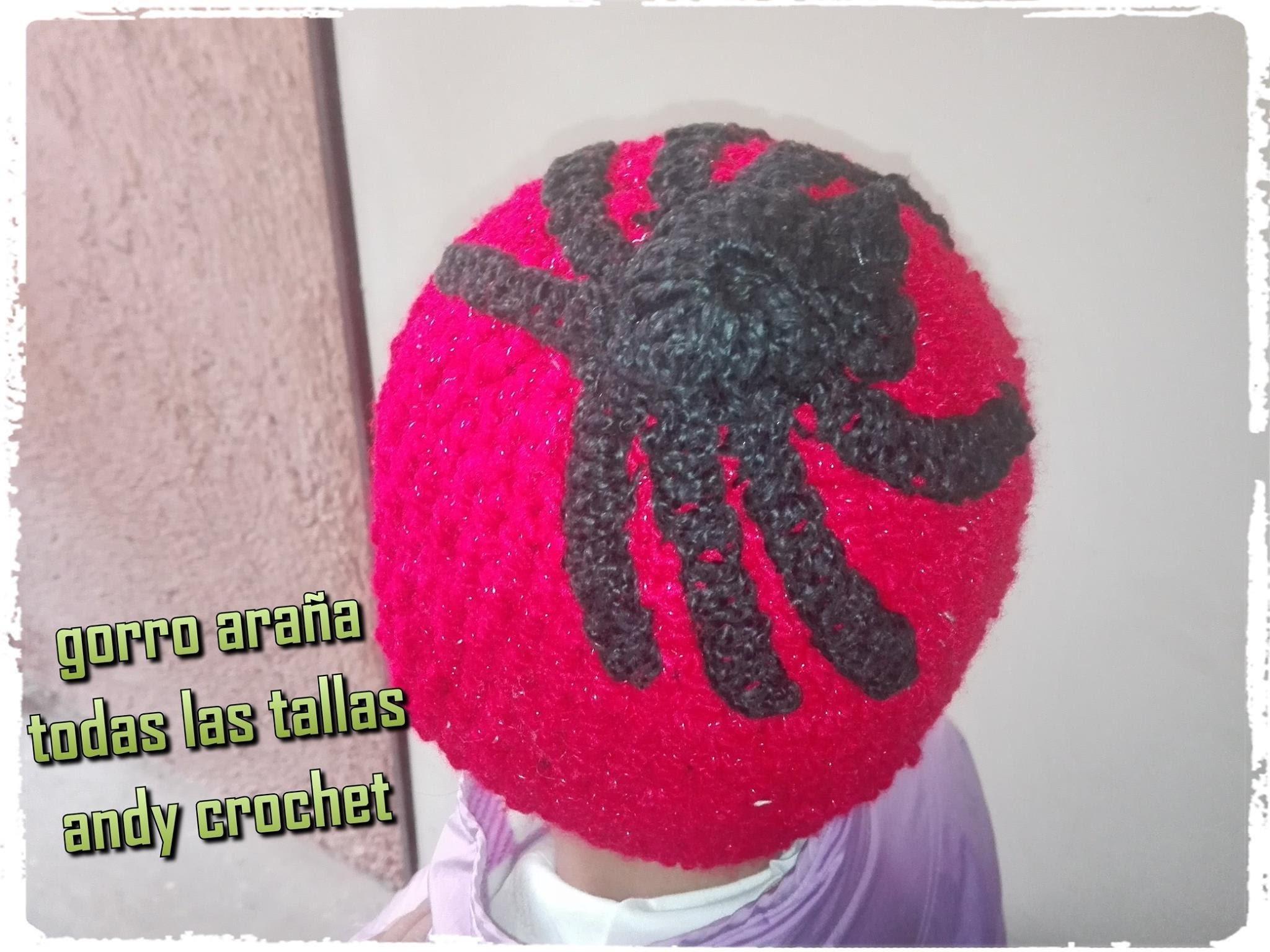 Gorro araña tejido a crochet p (1) todas las tallas