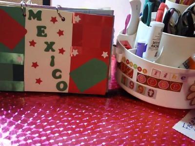 COMO HACER LOS MESES DEL MINI ALBUM SCRAPBOOK 2012(julio a diciembre)