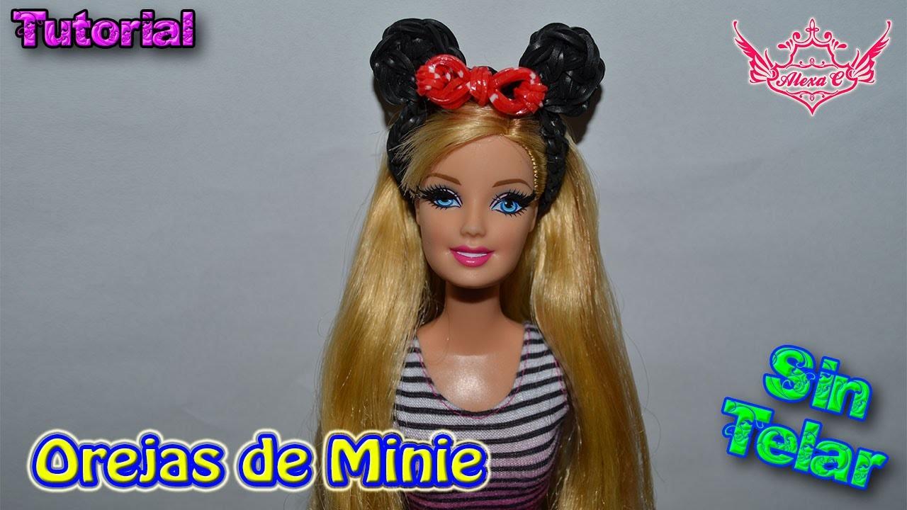 ♥ Tutorial: Diadema de Minnie de gomitas para Muñecas (sin telar) ♥