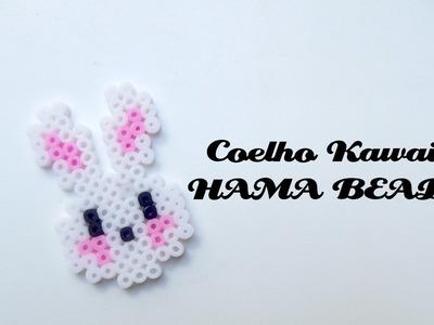 ✿ Coelho Kawaii ( HAMA BEADS ) - Rabbit Kawaii ( PERLER BEADS ) - Conejo Kawaii ✿