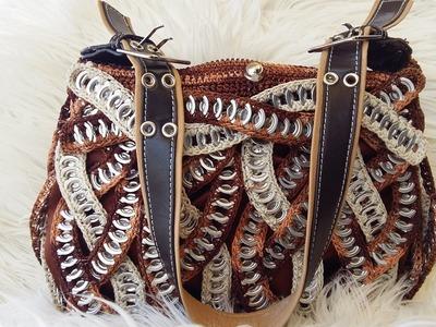 """#DY#Tutorial, Como hacer una bolsa con anillas de lata: Bolsa """"VIRGI"""" 1º PARTE"""