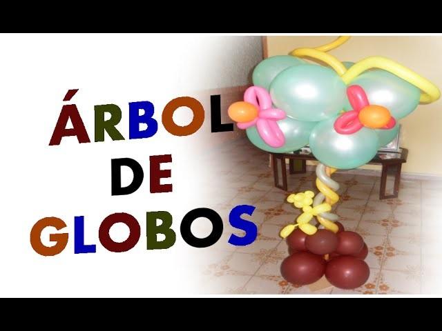 Árbol de Globos Súper Fácil para Fiestas Infantiles