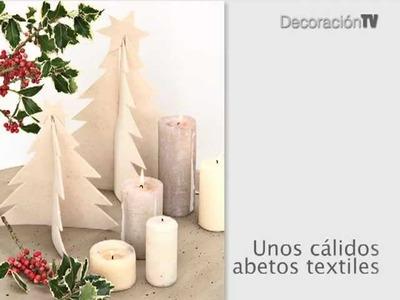 Árboles de Navidad de fieltro. Manualidades