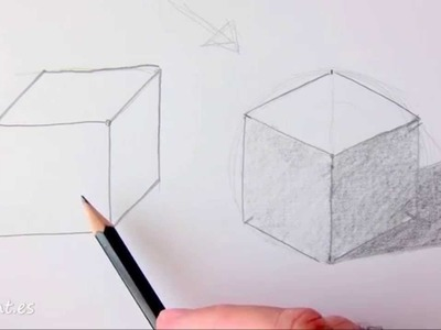 Como dibujar un cubo