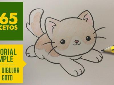 COMO DIBUJAR UN GATO KAWAII PASO A PASO - Dibujos kawaii faciles - How to draw a cat